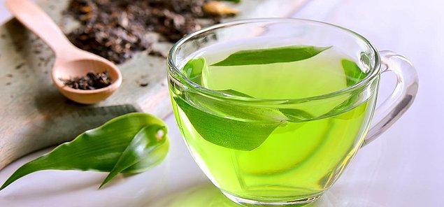 9. Yeşil mucize: Yeşil çay!