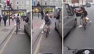 Что получил в ответ водитель, пытавшийся пристать на красном свете к велосипедистке