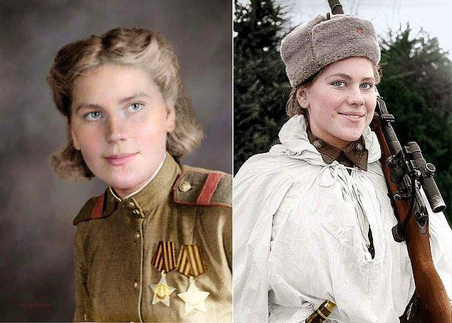 Roza, 1941'de abisinin cephedeki ölümü üzerine gönüllü olarak orduya katıldı.