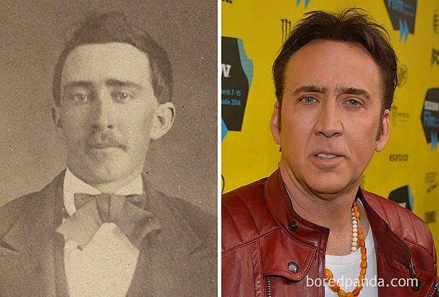 11. Şu dünyada en çok benzeri olan ünlü olsa gerek Nicolas Cage.