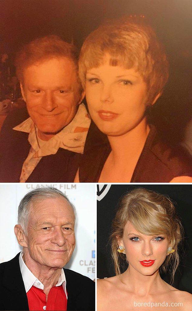 14. Hugh Hefner'ın kardeşi ve Taylor Swift aynı karede olsa çok değişik olmaz mıydı?