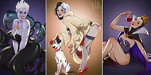 Artist Transforms Disney Princesses Into Racy Vintage Pin-Up Models!