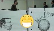Студент рисовал своего занудного профессора весь семестр, и вот, что из этого вышло...