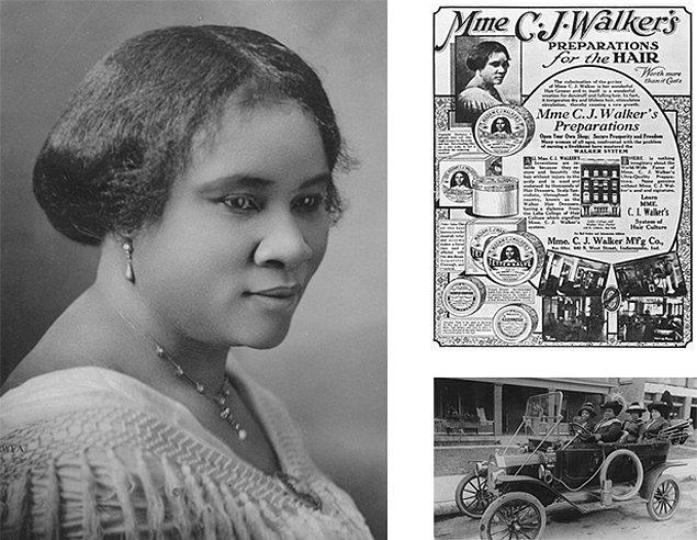 6. Sarah Breedlove / Madam C. J. Walker (1867 - 1919)