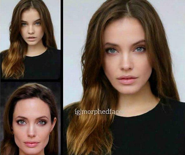 9. Barbara Palvin ve Angelina Jolie