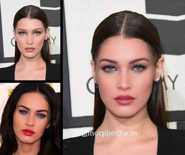 13. Bella Hadid ve Megan Fox
