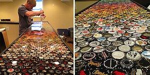 This Man Collected Bottle Caps For 5 Years To Decorate His Kitchen, And Here Are The Result!