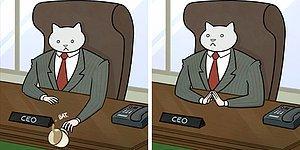 18 убойных комиксов о том, что было бы, будь ваш босс КОТИКОМ🐱
