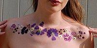 Долой металлические татуировки! Встречайте новый тренд весны — тату из засушенных цветов!