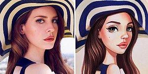 21 Celebrities Turning Into Adorable Cartoon Characters In This Artist's Sketchbook!