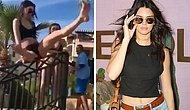 Puzzler Of The Week: Is This Kendall Jenner Falling Of The Rail?