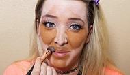 Обратный макияж!!! Вот, как выглядит контурирование наоборот
