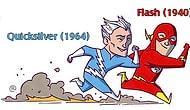 DC ve Marvel Evrenindeki Benzer Yetenekli Kahramanları Ele Alan 22 İllüstrasyon