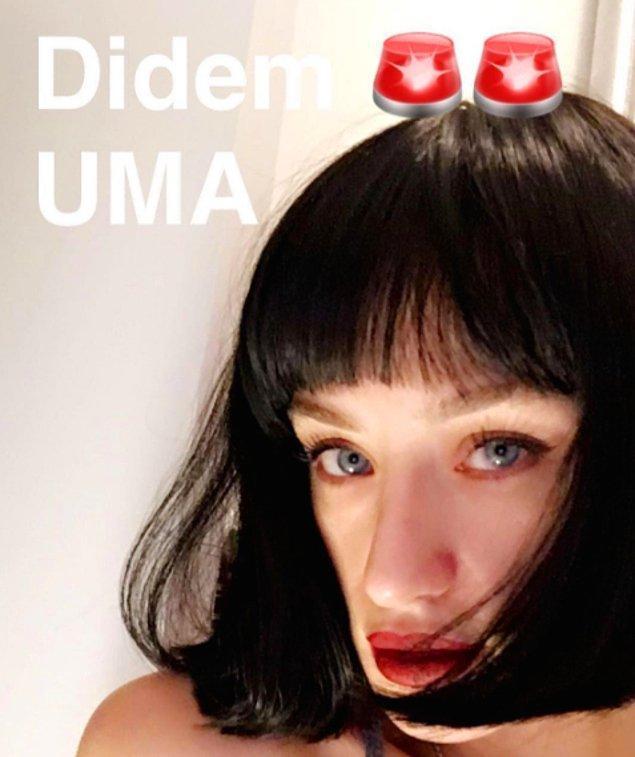 4. Bazen bir bakıyorsunuz Uma Thurman olmuş!
