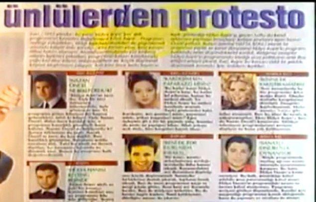 8. Özcan Deniz, Seda Sayan, Ebru Gündeş gibi ünlülerin protesto ettiği show programı hangisiydi?