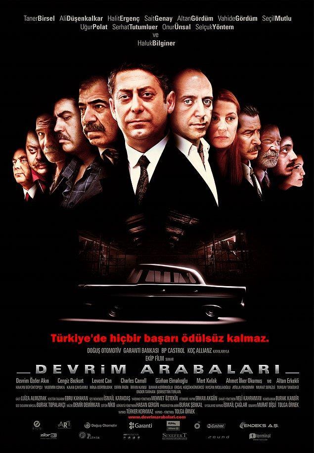 """14. """"Türkiye'nin ilk yerli arabasının başarı hikayesini konu edinen 'Devrim Arabaları' filminin sloganı belli oldu: Türkiye'de hiçbir başarı ödülsüz kalmaz."""""""