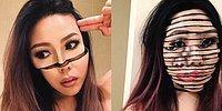 Девушка создает невероятные оптические иллюзии с помощью косметики
