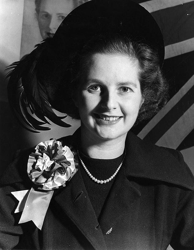 Молодая Маргарет Тэтчер (Железная Леди), бывший Премьер-министр Соединенного Королевства.