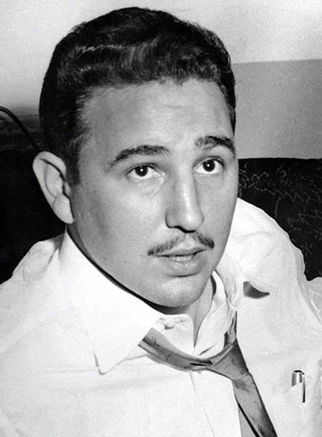 Фидель Кастро в Нью-Йорке во время интервью, 1955 год.