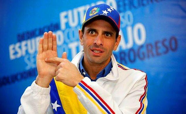 Hükümet karşıtlarının öfkesi, 7 Nisan'da muhalif lider Henrique Capriles'in kamu görevinden 15 yıl boyunca men edilmesiyle daha da arttı.