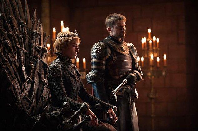 1. Cersei, Baelor Septi'ni yerle bir ettikten sonra Jaime ile tekrar bir arada.