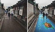 Colorful Murals Appear On Roads Only When It Rains!