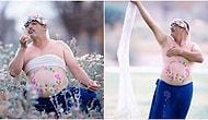 Взволнованный отец принял участие в «беременной» фотосессии