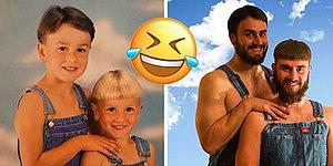 19 Times Siblings Perfectly Recreated Their Childhood Photos!