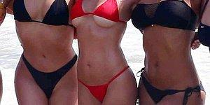 New Pictures Show Kim And Kourtney Kardashian In Bikinis On The Beach In Mexico