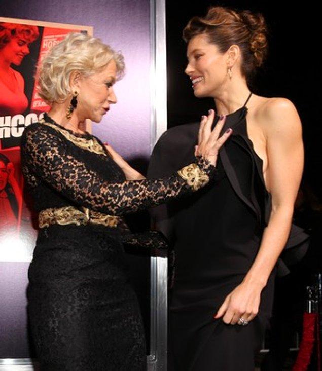 10. Helen Mirren ve Jessica Biel
