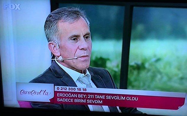 211 sevgiliden biriyle evlenemeyip izdivaç programı yolu tutan Erdoğan Bey