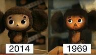 Сравнение японского Чебурашки 2014 года с оригиналом 1969 года