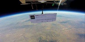 Here Is How The First Protest Out In Space Went!