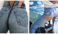 Джинсы с ширинкой сзади и джинсы, порванные на ягодицах: новые безумные тренды