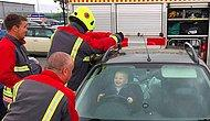 Sweet Toddler Is Busy Having A Laugh While Firefighters Are Getting Him Out Of A Locked Car!