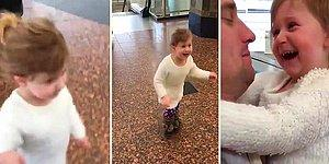 This Girl's Joy After Reuniting With Her Father Will Put A Genuine Smile On Your Face