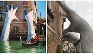 Огромные руки поднялись в Венеции из воды, чтобы сказать всему миру кое-что важное