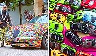 This Businessman Decorated His Jaguar With 4,600 Toy Cars!