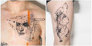Для любителей геометрии: 9 тату с идеальным сочетанием сакральных символов и старинных гравюр