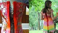 Inspired By Their First Date, Woman Uses 10.000+ Candy Wrappers And 4 Years To Make This Dress!