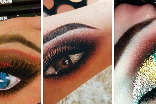 20 шокирующих фото макияжа глаз на... руках