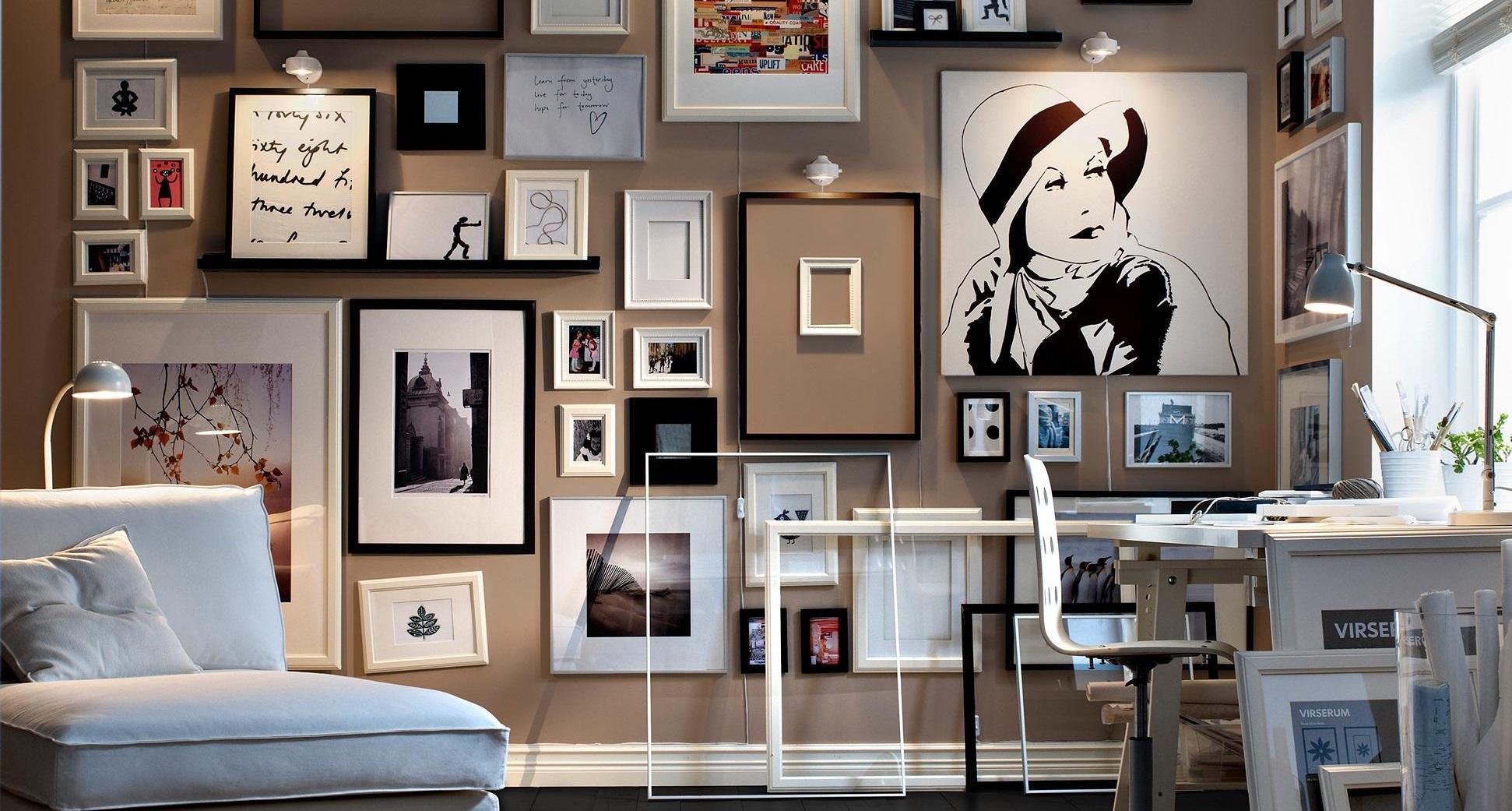 Фото без рамок на стене идеи для интерьера