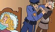 6 забавных комиксов о том, что было бы, если бы в мультиках Диснея была полиция