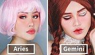 12 Makeup Looks For Zodiacs Artist Made And Photographed With Her Toe!