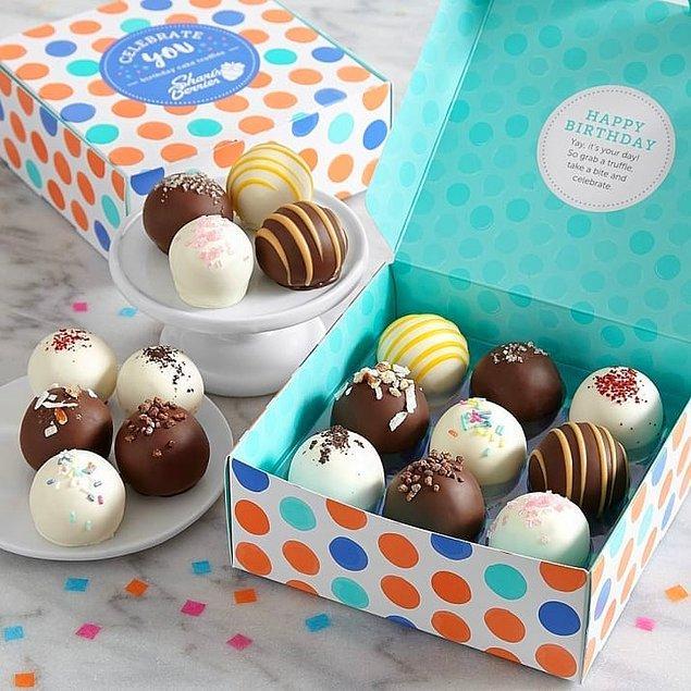9. Çikolatalı doğum günü şekerlemeleri!