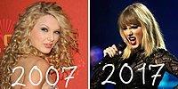 Ветер перемен 2007 vs 2017: как за 10 лет изменились известные поп-звёзды