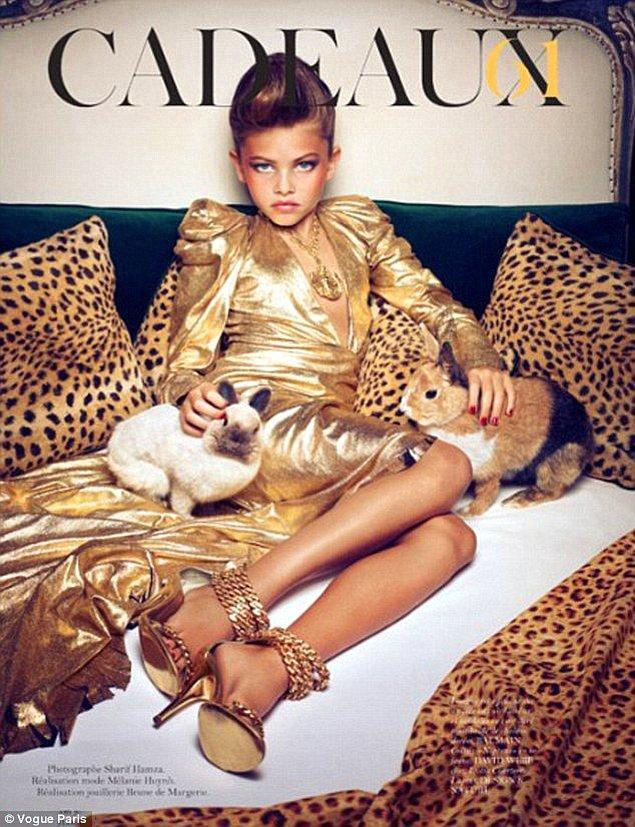 2011 yılında Vogue dergisinin Fransız edisyonunda yer alan fotoğrafları o dönem gündeme oturmuş, büyük tartışmalara neden olmuştu.