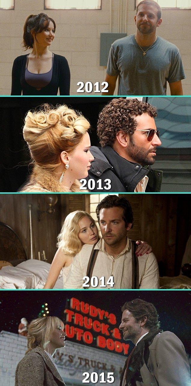3. Jennifer Lawrence & Bradley Cooper