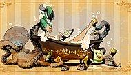 Иллюстратор Disney рисует забавные комиксы о викторианской красотке и ее осьминоге