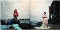 При помощи дочек и их мам фотограф решил показать, как бы выглядели принцессы Диснея, став королевами